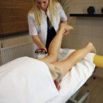 Masaż kostkami lodu na kierunku technik masażysta