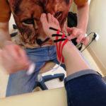 Kinesiotaping - szkolenie słuchaczy w Wałczu